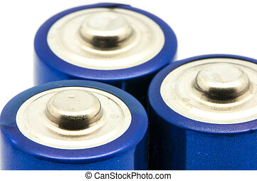 rechargeable batteries on a white background