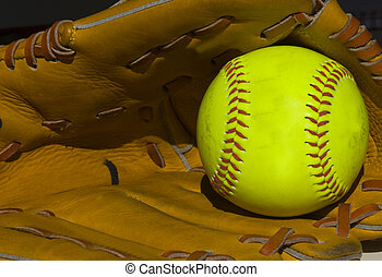 softball - closeup of a softbal