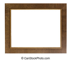 Decorative photo frame isolated on white background -...