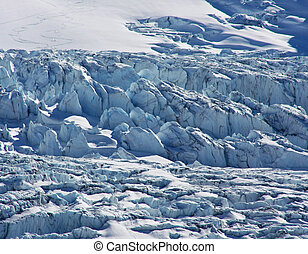 Athabasca Glacier in Jasper National Park, part of the...