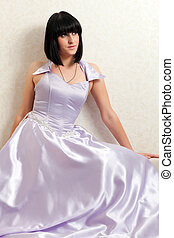 woman in a ball gown - beautiful young woman in a ball gown...