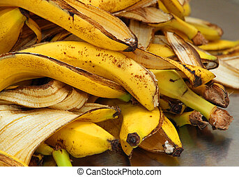 yellow banana peels just Peel to store organic waste - many...