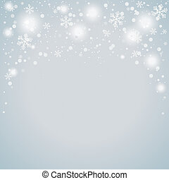 Snow Background - Snow on the grey background