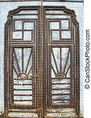 vintage metal door , old gate