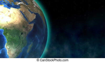 Spinning Globe - Beautiful view of the earth rotating in...
