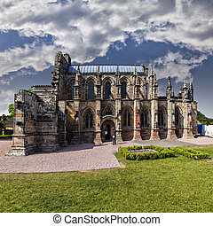 Rosslyn Church Scotland - Famous medieval church Rosslyn,...