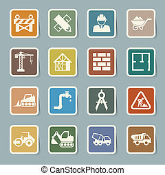 Construction Icons set.Illustration EPS10