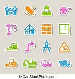 Construction Icons setIllustration EPS10