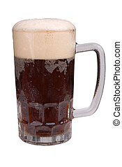 Mug of ale with a foamy head