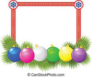 Christmas congratulatory frame - Christmas congratulations...
