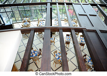 The restaurant interior of luxury hotel, Fujairah, UAE