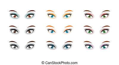 Set of eyes