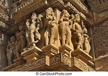 Human Sculptures at Khajuraho - Human Sculptures at...