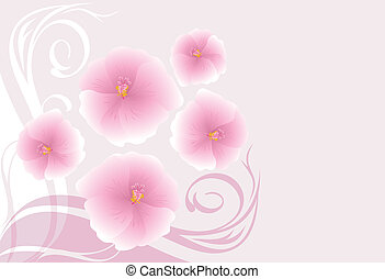Background with blooming flowers