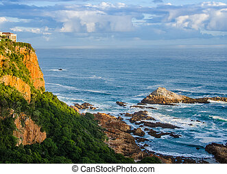 Indian Ocean at Knysna, South Africa - View of the Indian...