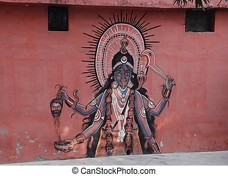 Symbols D - Religious painting on a wall