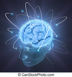 Brain The Power Of Mind - Electrons revolve around the brain...