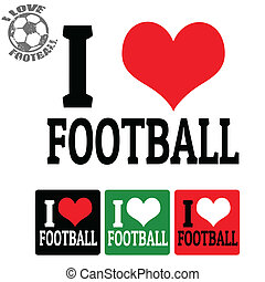 I love Football sign and labels