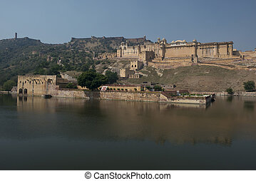 Amber Fort near Jaipur - The Amber Fort, magnificent...