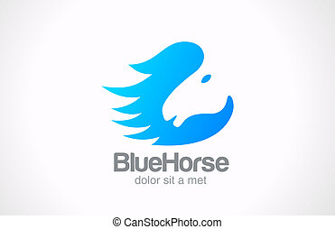 Logo Horse silhouette abstract vector Creative design...