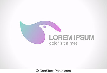 Logo Bird abstract design template SPA Healthcare Cosmetcs -...