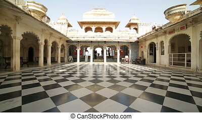 Courtyard at City Palace, Udaipur - Courtyard at City Palace