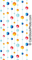 abstract hanging jewels striped seamless pattern background...