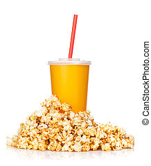 Popcorn and fast food drink