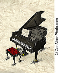 Piano Painting Image