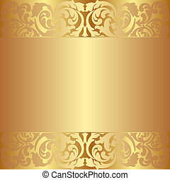 golden background with abstract ornaments