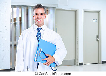 Doctor. - Smiling family doctor with stethoscope. Health...