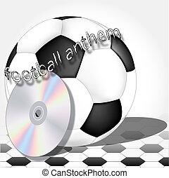 symbols of the football player - soccer begins with the...