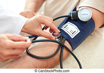 Blood pressure measuring Doctor and patient Health care