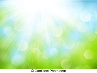 Summer bokeh background - Abstract summer bokeh background...