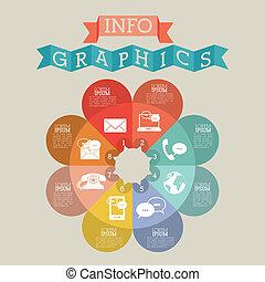 infographics design over beige background vector...