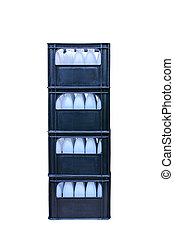 Crate water bottle - Stack of crate water bottle isolated on...
