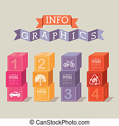 infographics design over beige background vector...