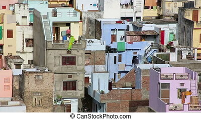 View of residential district, Udaipur - View of densely...