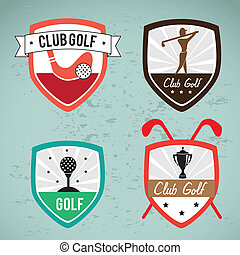 golf design over blue  background vector illustration