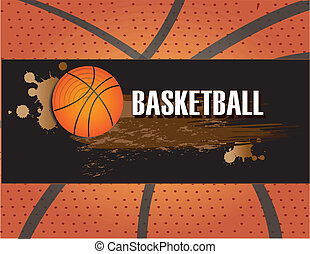basketball design - basketball design over pattern...