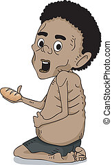 Malnourished African Kid - Illustration of a Malnourished...