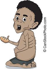 Malnourished African Kid - Illustration of a Malnourished...