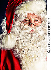 beautiful santa - Portrait of a traditional Santa Claus....
