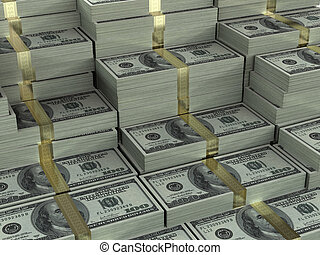 Dollar - Background full of money