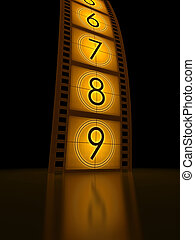 Filmstrip Countdown - Concept of Industry cinematographic.