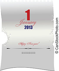 Blank letter with  date of January,