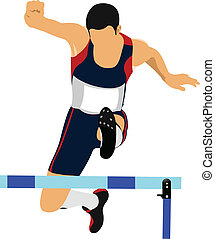 Illustration of a track and field a