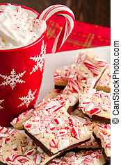 Traditional Holiday Chocolate Peppermint Bark - Holiday...