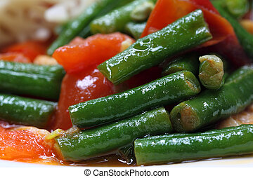 Delicious curry of yard long bean