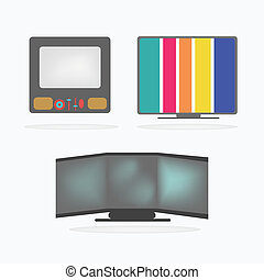Retro Television Icons set